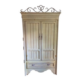 Country Style Painted Pine Armoire