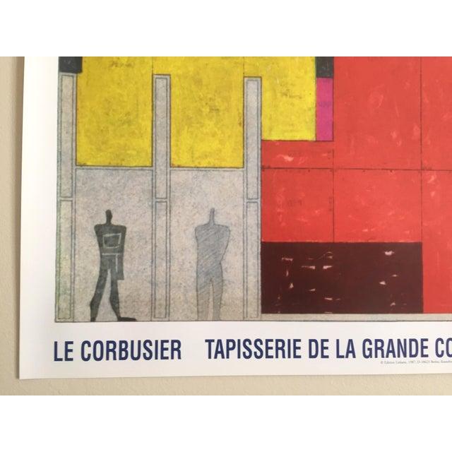 le corbusier original lithograph poster edition lidiarte 1987 chairish. Black Bedroom Furniture Sets. Home Design Ideas