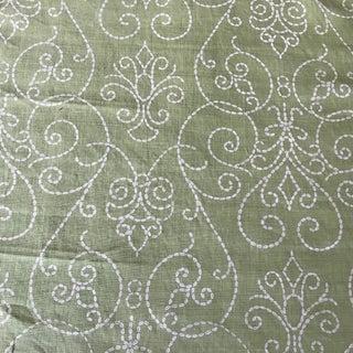 Raoul Textiles Green Linen Fabric