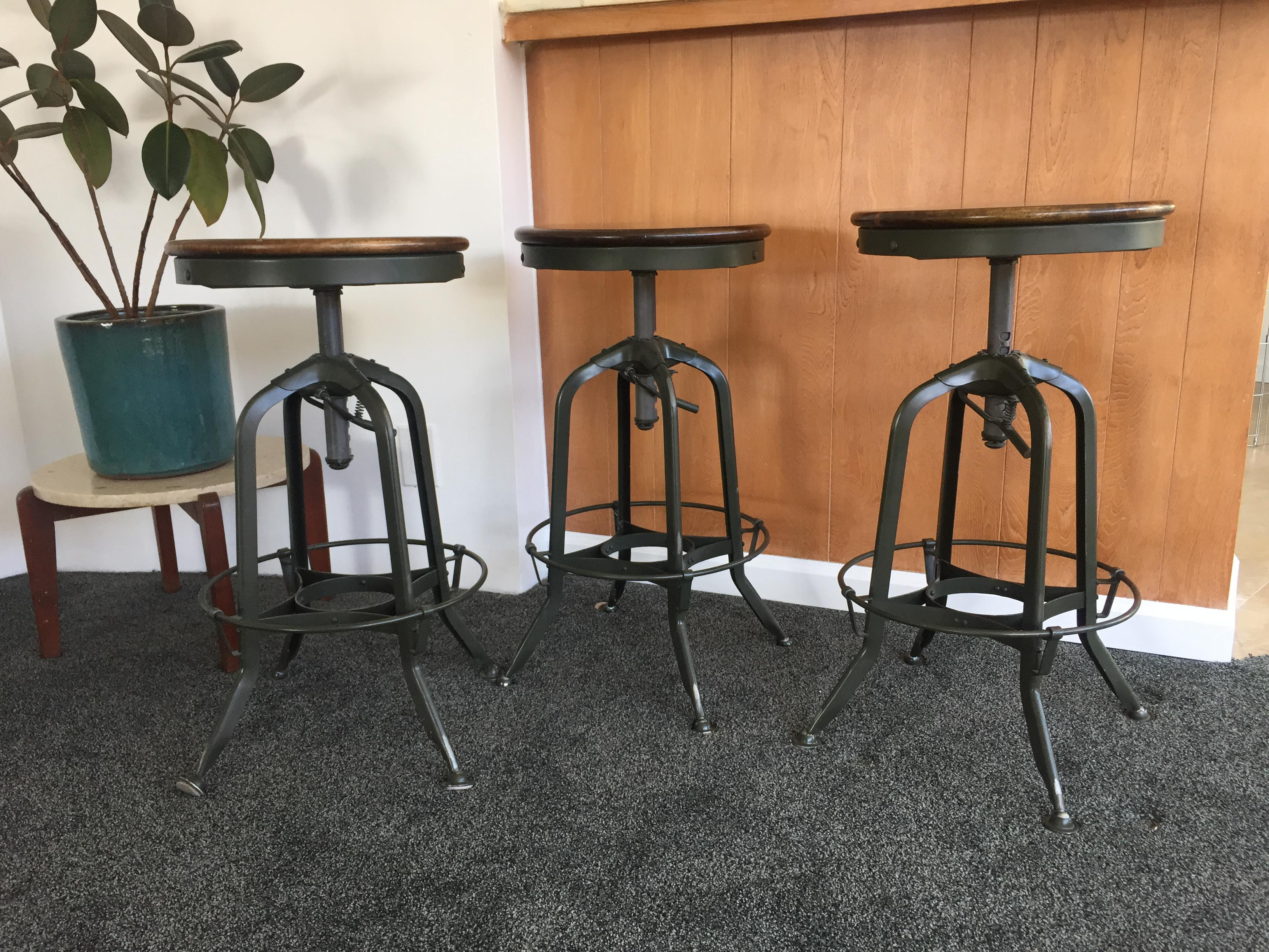 Restoration Hardware Toledo Stools Set Of 3 Chairish