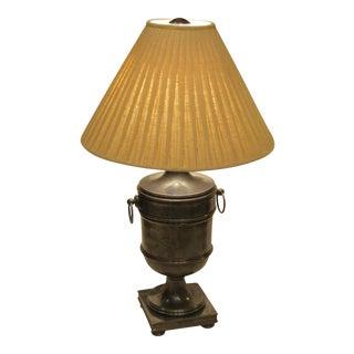 Ralph Lauren Pewter Finish Urn Lamp