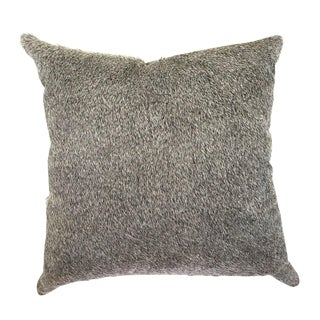 Salt & Pepper Cowhide Pillow