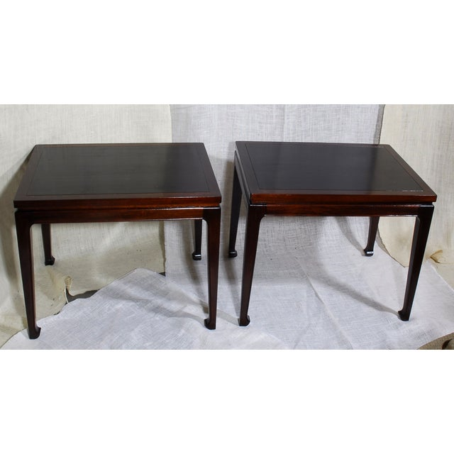 Mid-Century Modern Mahogany End Tables - A Pair - Image 2 of 7