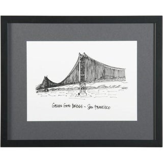 Framed San Francisco Golden Gate Bridge Print