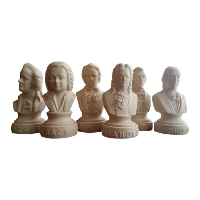 Image of Famous Composer Busts - Set of 6