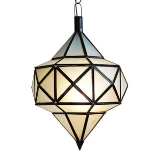 White Frosted Diamond Lantern