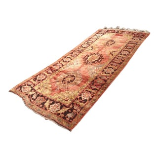 """Vintage Hand Knotted Anatolian Rug - 4'10"""" X 10'6"""""""
