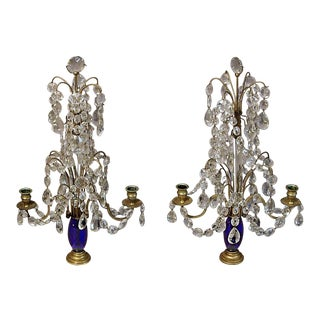 Pair of Crystal Girandoles (#83-47)