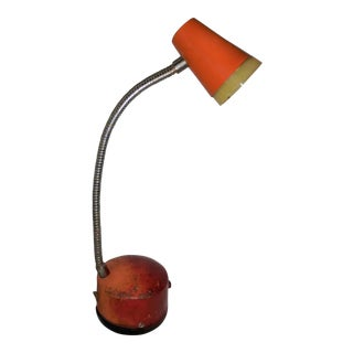Industrial Mini Orange Work Lamp