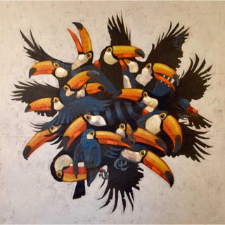 Toucan Ball Painting