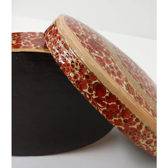 Antique Kashmir Lacquer Paper Maché Box - Image 5 of 10