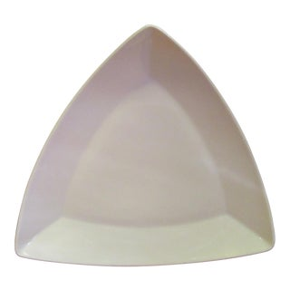 Vintage Buffalo China Mod Triangle White Serving Dish