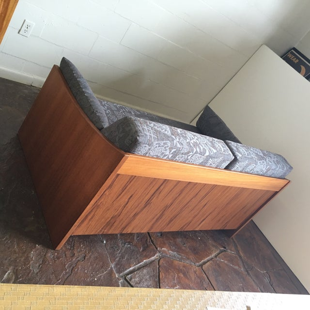 Wrap around teak day bed chairish for Wrap around sofa bed