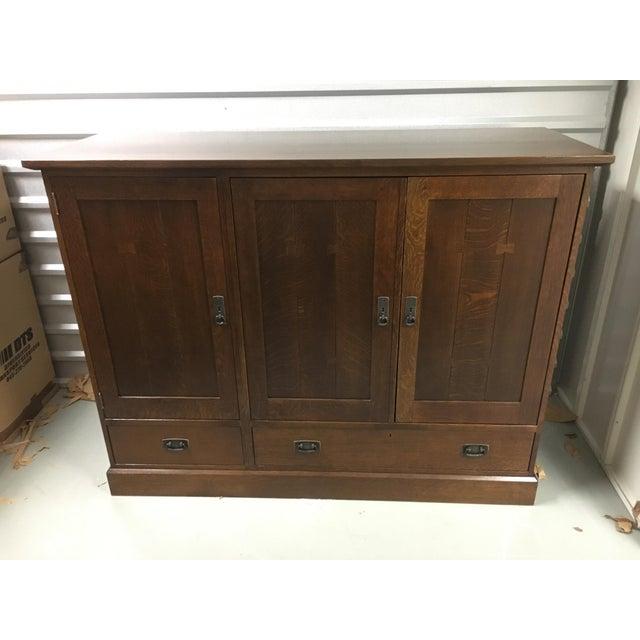 Stickley Oak Entertainment Cabinet - Image 2 of 5