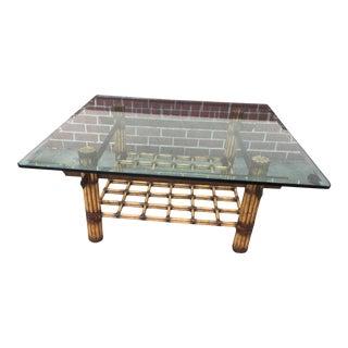 Glass Bamboo Coffee Table