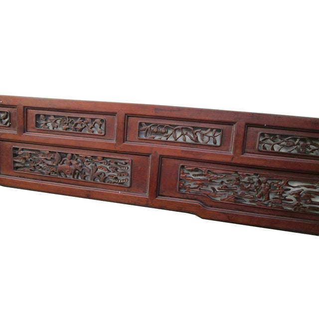 Old Chinese Scenery Carving, Panel Frame - Image 4 of 5