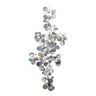 "C. Jere ""Rain Drops"" Chrome Wall Sculpture"