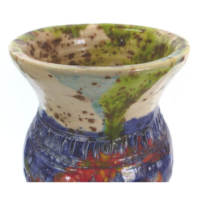 Multi-Colored Glazed Ceramic Vase by Gary Fonseca - Image 6 of 8