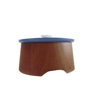 Large Teak Swedish Enamel Pot, Cathrineholm Style