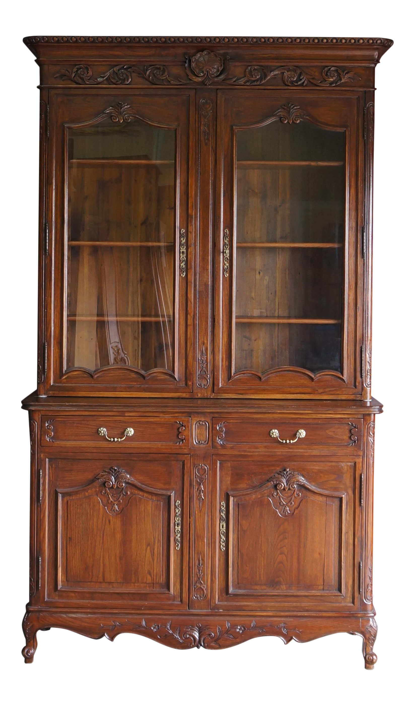 French Provincial Display Cabinet Hutch