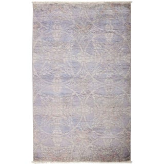 "Vibrance, Hand Knotted Violet Wool Area Rug - 4' 1"" X 6' 5"""