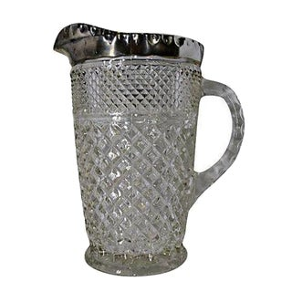 Crystal Pitcher with Silver Verge