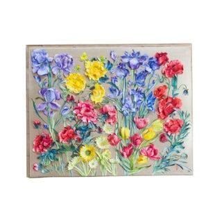 Vintage Handmade 3D Flower Art