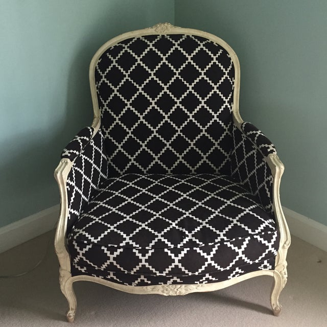 Image of Vintage Bergere Chair in Lulu DK's Chant Fabric