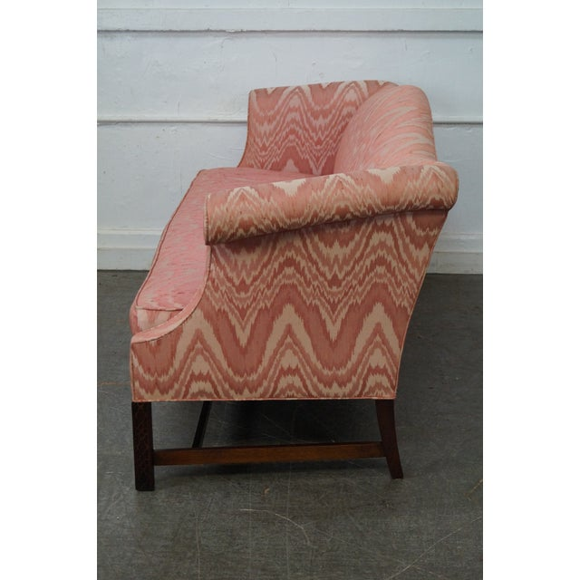 Image of Southwood Mahogany Chippendale Style Flame Stitch Sofa