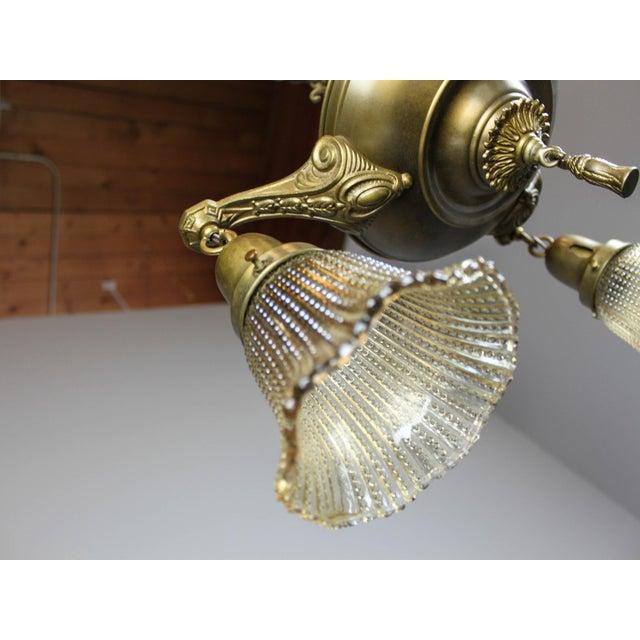 Antique Pan Light Fixture (3-Light) - Image 5 of 9