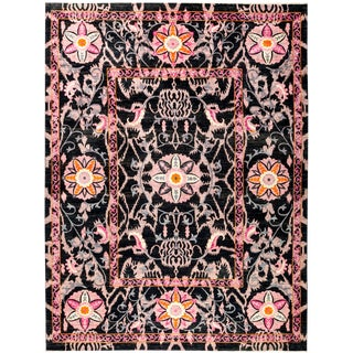 "Suzani Hand Knotted Area Rug - 9'3"" X 11'10"""