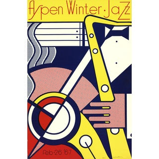 'Aspen Winter Jazz' Serigraph by Roy Lichtenstein