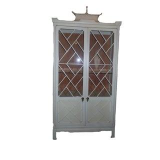 Tomlinson Pagoda Hollywood Regency Curio Cabinet
