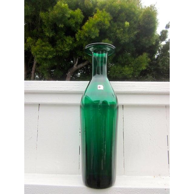 Image of Green Blenko Vase Decanter Ball Stopper