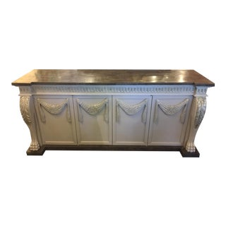 Marble Top Credenza with Satin Finish