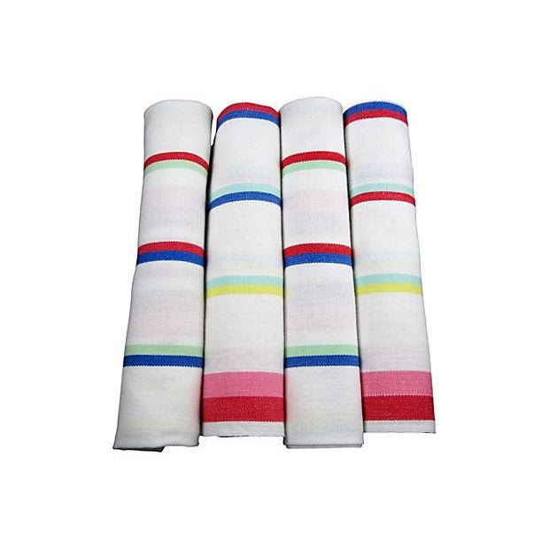 Image of Vintage Awning Stripe Oversize Napkins - S/4
