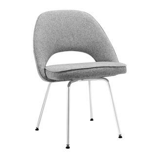 Gray Tweed Wool Chair