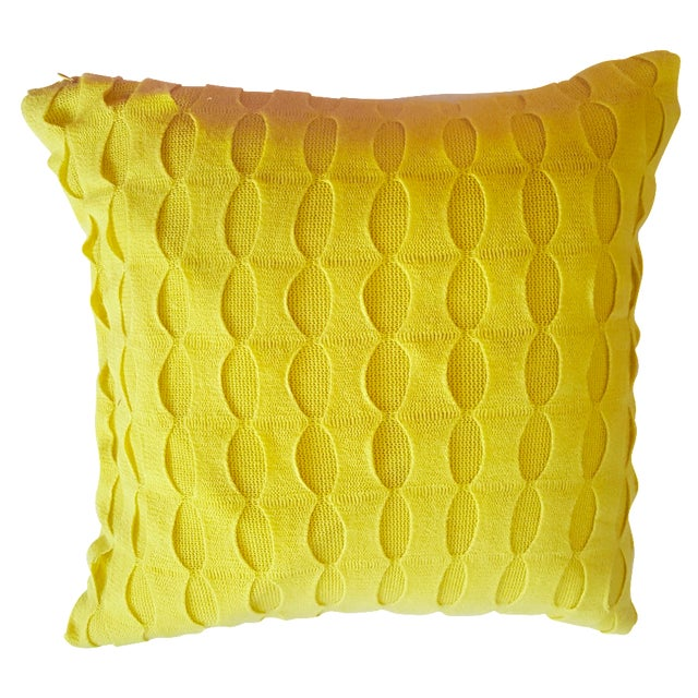 Image of Chartreuse Knit Toss Cushions - Pair