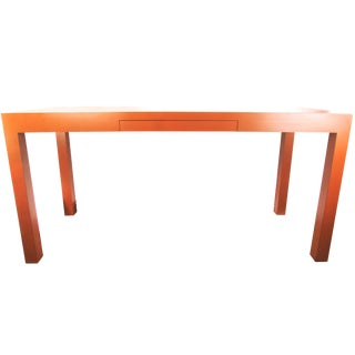 Burnt Orange Laminate Parsons Console Desk