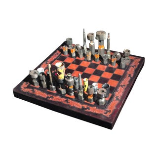 Brutalist - Vintage Original Chess Scultpture