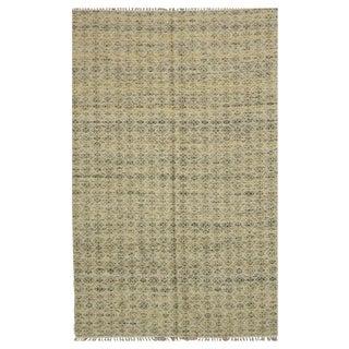 Handmade Indian Kilim - 5′2″ × 8′