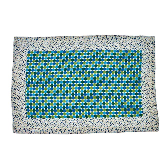 Reversible Hand-Stitched Indian Kantha Patchwork Throw Blanket - Image 2 of 3