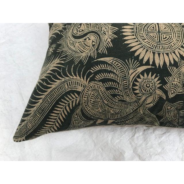 Asian Serpent Gray Batik Pillows - A Pair - Image 10 of 11
