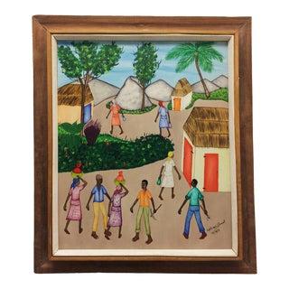 1973 Mid-Century Modern Benoit Painting