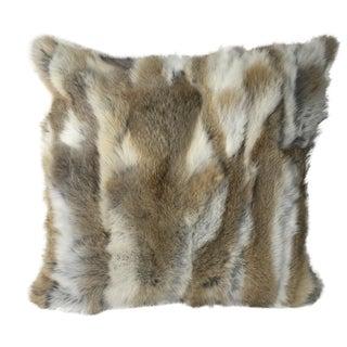 Rabbit Fur Mosaic Pillow