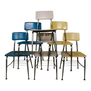 Heywood Wakefield Vintage School Chairs - Set of 6