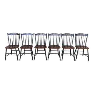 Hitchcock Harvest Windsor Side Chairs - Set of 6