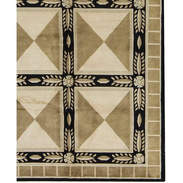 """Contemporary Hand-Woven Rug - 6'2"""" x 9' - Image 3 of 3"""