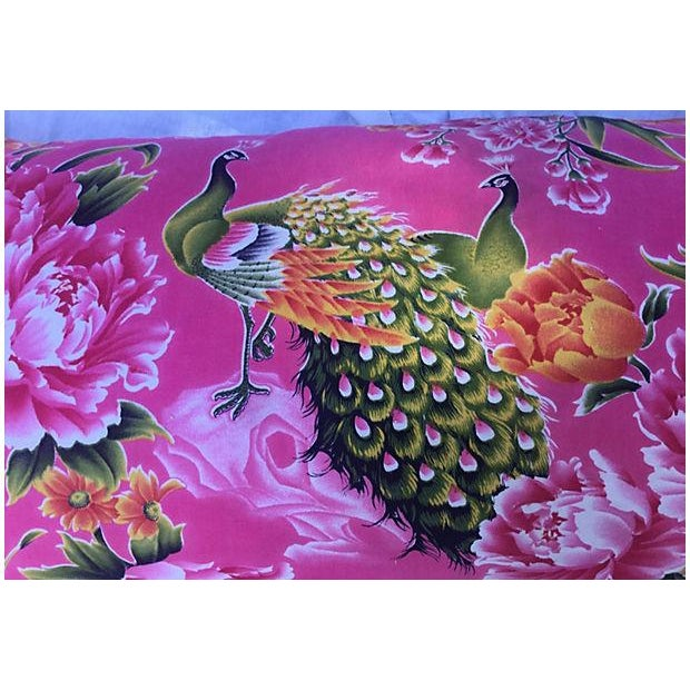 1940s Peony & Peacock Pillow - Image 2 of 4