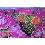 Image of 1940s Peony & Peacock Pillow